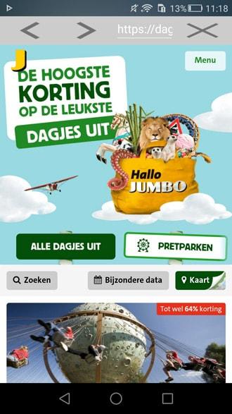 Extreem Jumbo Dagjes Uit app: verzilver je munten voor korting op een  IW-01
