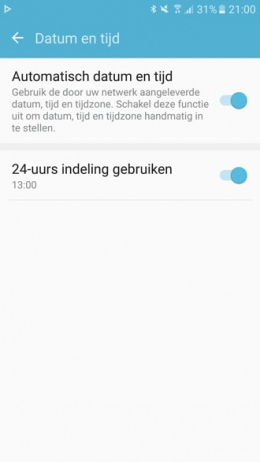 Zomertijd Galaxy S7