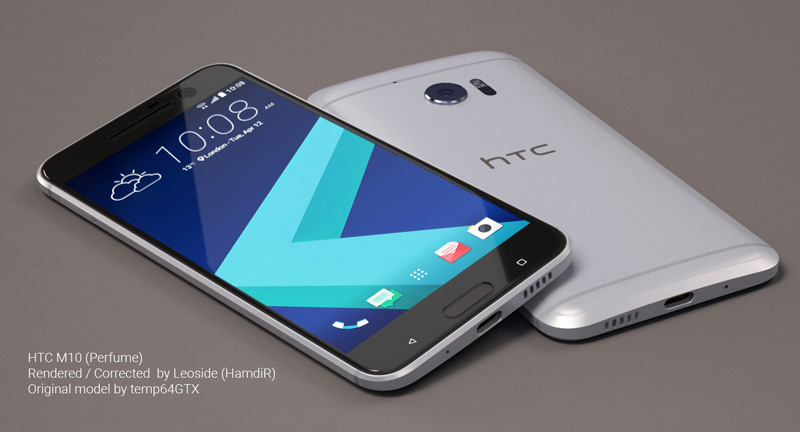 HTC 10 mock-up