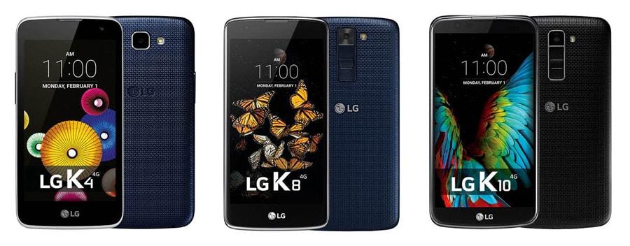 LG K4 K8 K10