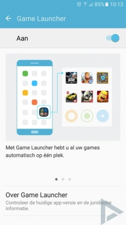 Samsung Galaxy S7 Game launcher