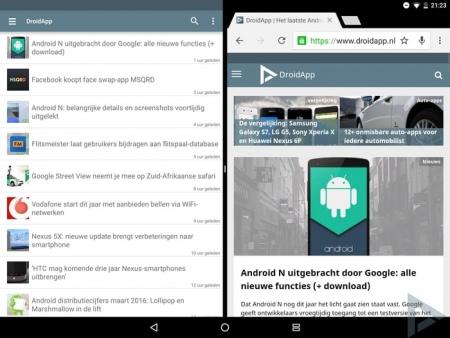 Android N multi window