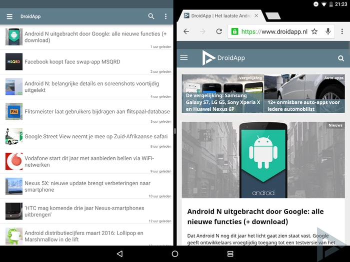 Android N multi window