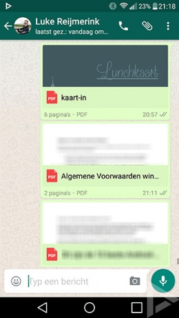 WhatsApp Google Drive documenten