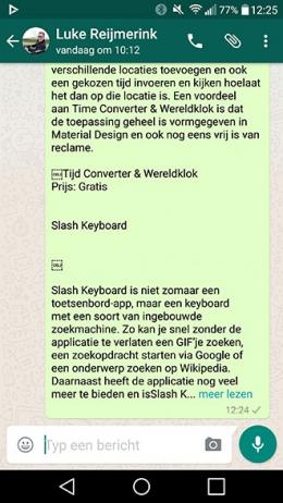 WhatsApp meer lezen