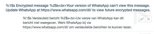 whatsapp versie encryptie