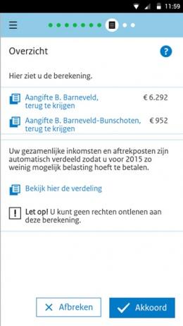 Aangifte 2015 app