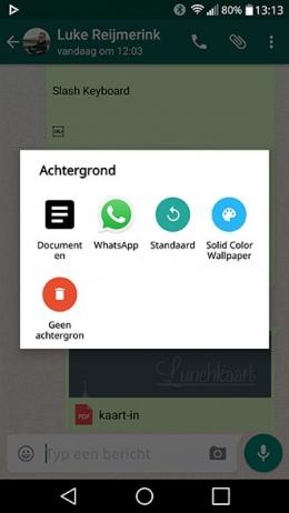 WhatsApp achtergrond