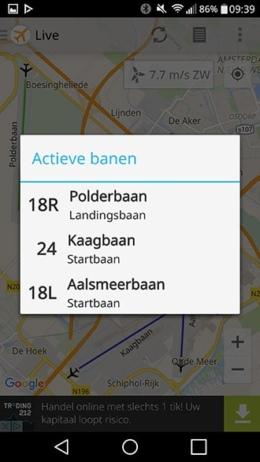 Baangebruik Schiphol