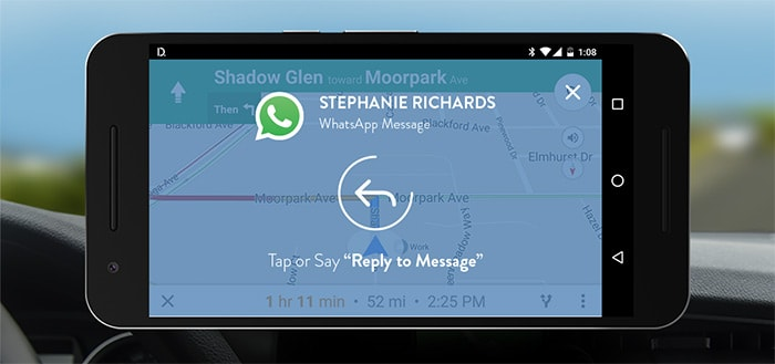 Drivemode voegt ondersteuning WhatsApp, Hangouts en Messenger toe voor onderweg
