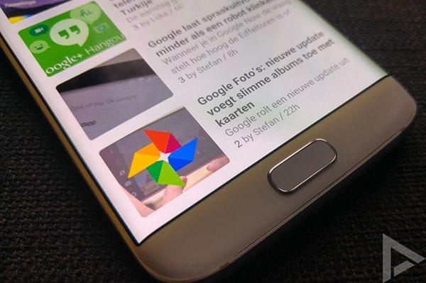 Samsung Galaxy S7 Edge licht lek