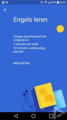 Google Agenda doelen