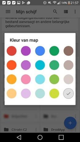 Google Drive kleuren