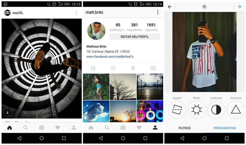 Instagram design interface