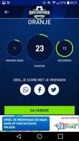 Matchwinner app