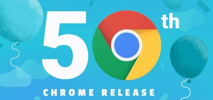 Infographic: Google Chrome viert vijftigste release met interessante statistieken