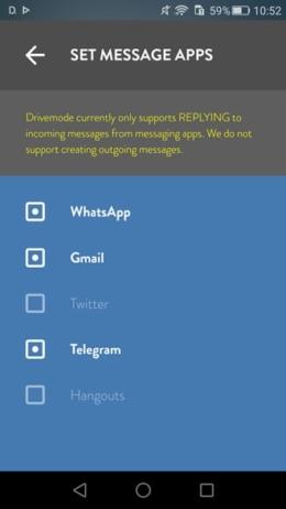 Drivemode WhatsApp