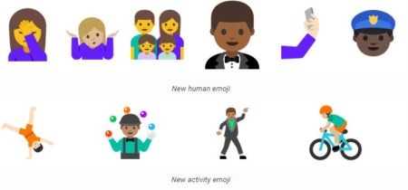 Android N Developer Preview 2 Emoji