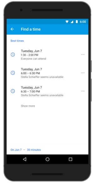Vind een tijd, Google Agenda