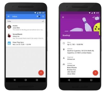 Inbox by Google evenementen