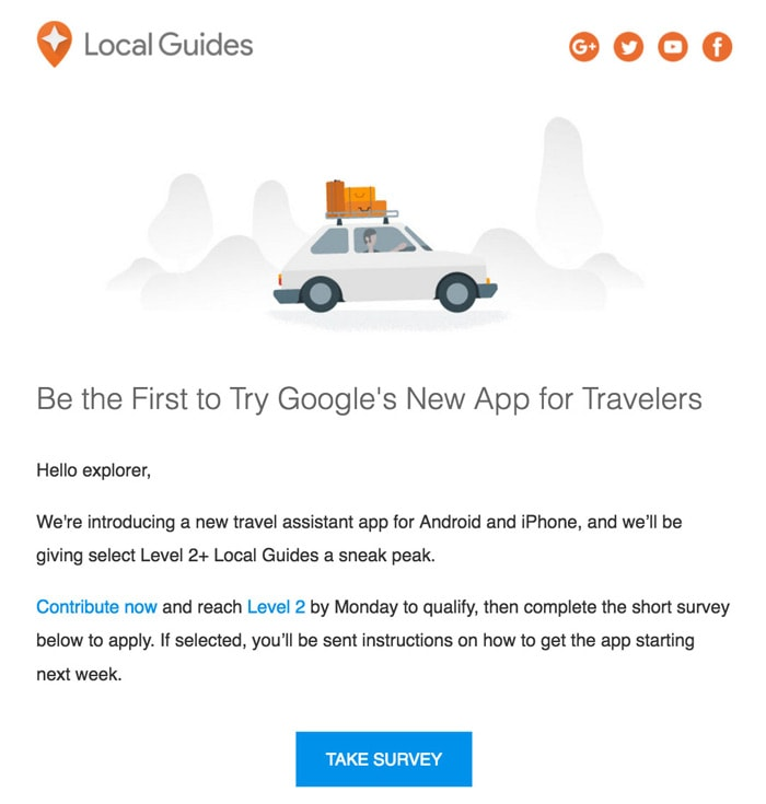 Google reis-assistent app