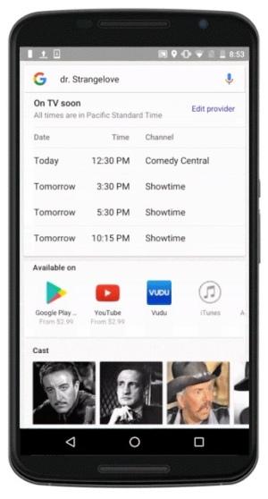 Google TV gids