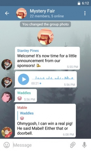 Telegram 3.8 chats