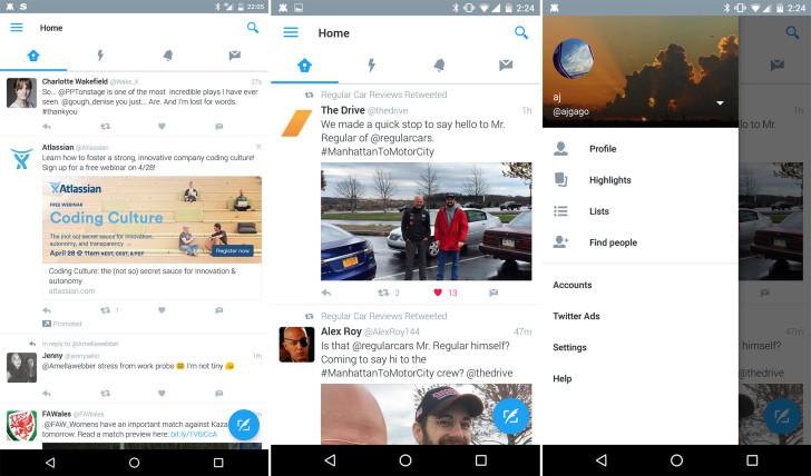 Twitter beta nieuw ontwerp