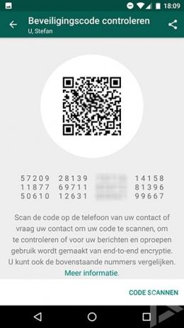 WhatsApp end-to-end encryptie