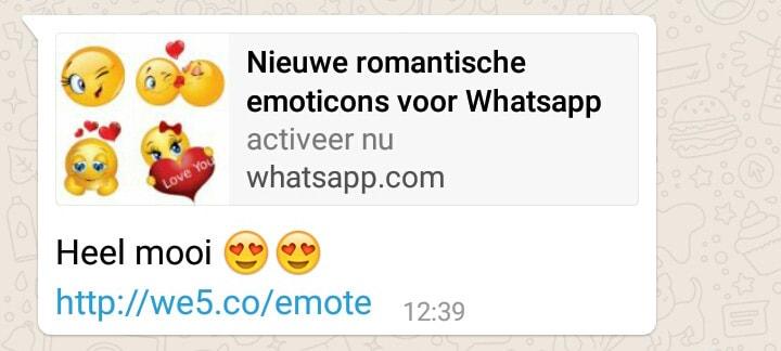 WhatsApp kettingbericht emoji