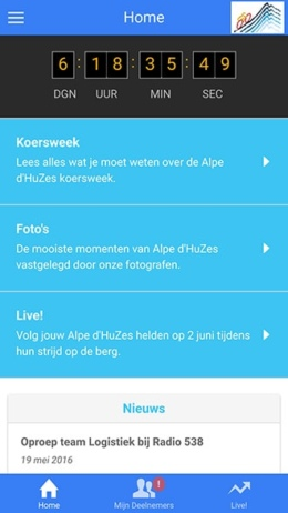 Alpe d'HuZes app 2016