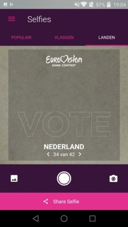 Eurovisie Songfestival app 2016