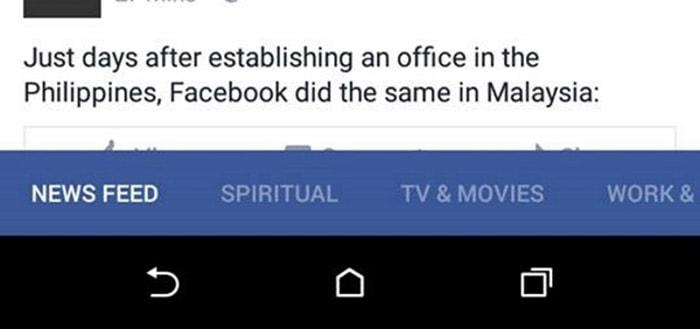 Facebook tijdlijn categorie