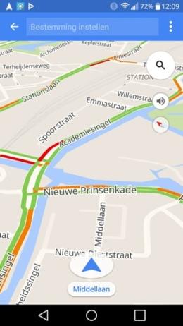 Google Maps Beginnen met rijden