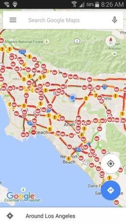 Google Maps eta