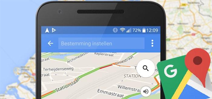 Google Maps test een erg handige knop 'huidige reis' zonder navigatie te verlaten