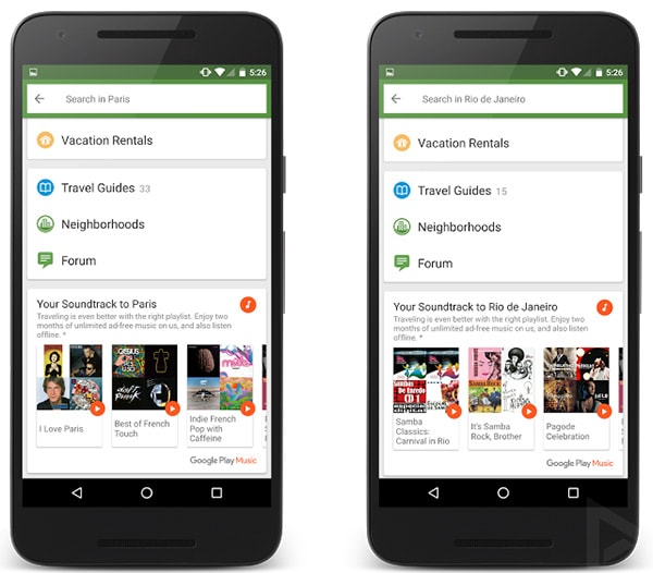 TripAdvisor Google Play Music