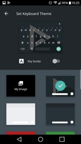 Google Toetsenbord thema
