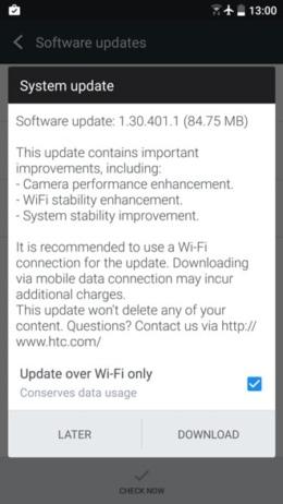 HTC 10 update 1.30