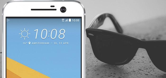 Displays HTC 10 en LG G5 slecht afleesbaar met zonnebril