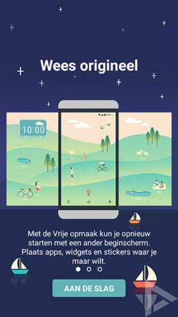 HTC Sense Home vrije opmaak