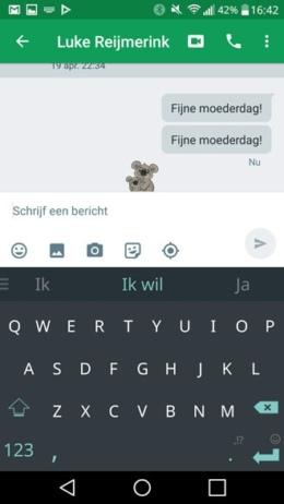 Hangouts Moederdag