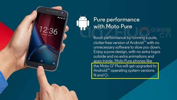 Moto G4 Plus Android O