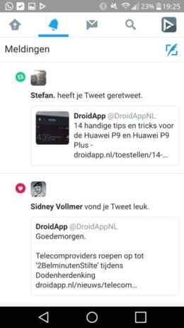 Twitter mobiele website