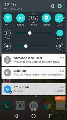 WhatsApp Web notificatie