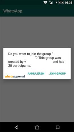 WhatsApp groep openbaar