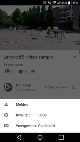 YouTube video-opties