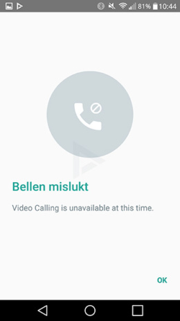 Whatsapp videobellen beta