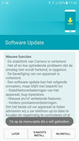 Galaxy S7 update G930FXXU1ADP1