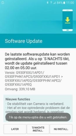 Galaxy S7 update G930FXXU1ADP1